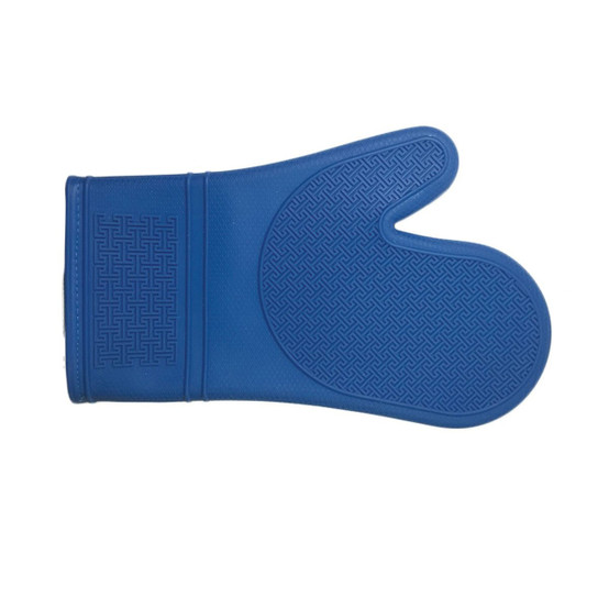Silicone Oven Mitt in French Blue