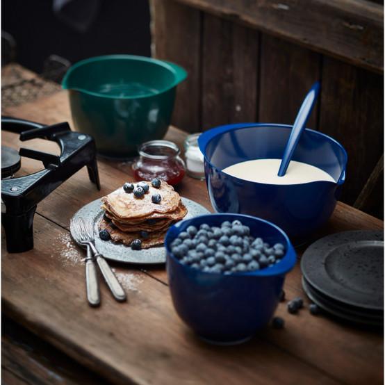 2 L Margrethe Mixing Bowl in Cobalt Blue