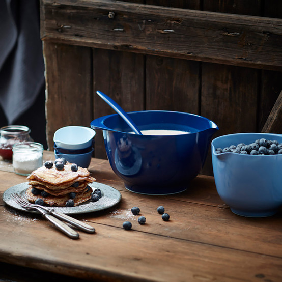 3 L Margrethe Mixing Bowl in Cobalt Blue