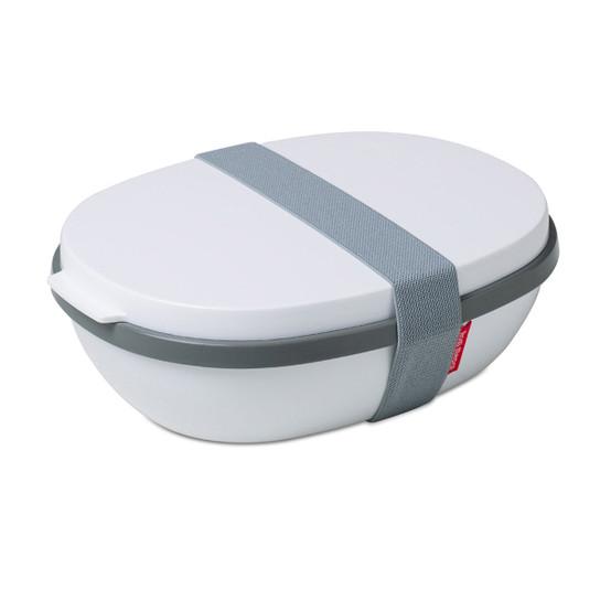 Ellipse Lunch Box Duo in White