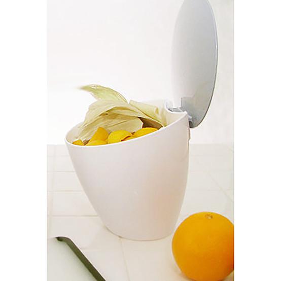 Calypso Compost Bin in White