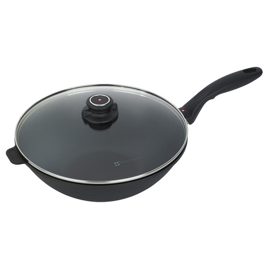 XD Induction Wok with Lid & Tempura Rack - 11.8""