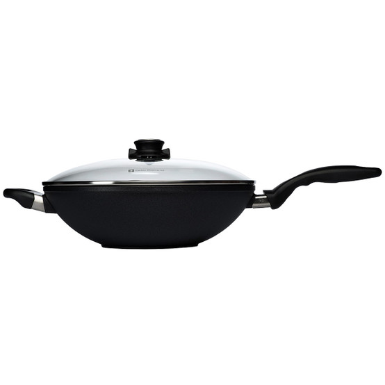 XD Induction Wok with Lid & Tempura Rack - 12.5""