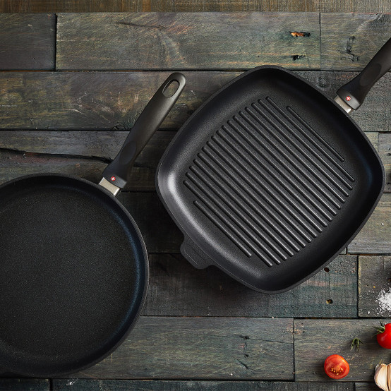XD Induction 2 Piece Set: Fry Pan and Grill Pa