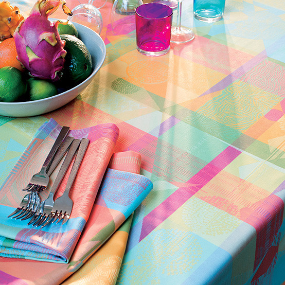 Mille Tingari Coated Tablecloth in Austral