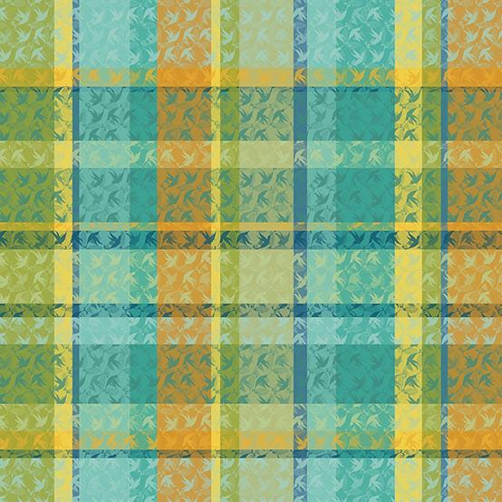 Mille Colibris Fabric in Maldives (Price/Inch)