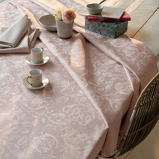 Mille Charmes Coated Fabric in Rose (Price/Inch)