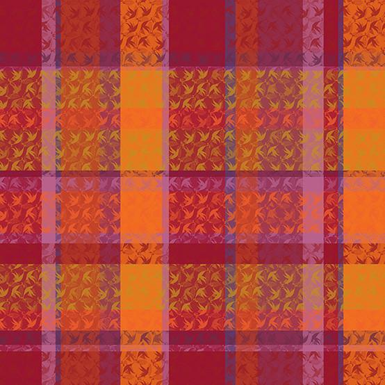 Mille Colibris Coated Fabric in Fidji (Price/Inch)