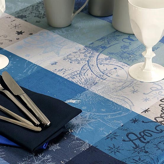 Mille Couleurs Coated Fabric in Blue Petrol (Price/Inch)