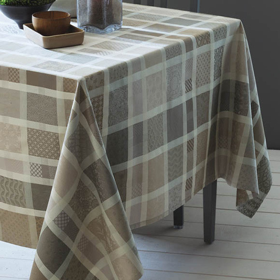 Mille Ladies Argile Coated Tablecloth 69 x 69