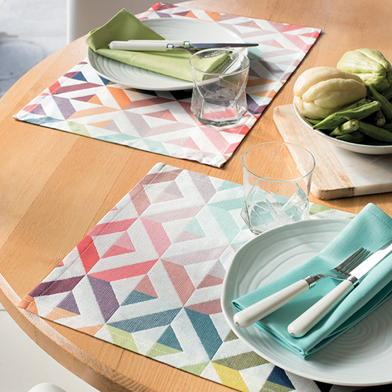 Mille Twist Coated Placemat in Pastel
