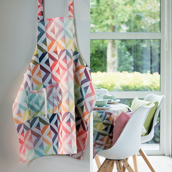 Mille Twist Coated Apron in Pastel