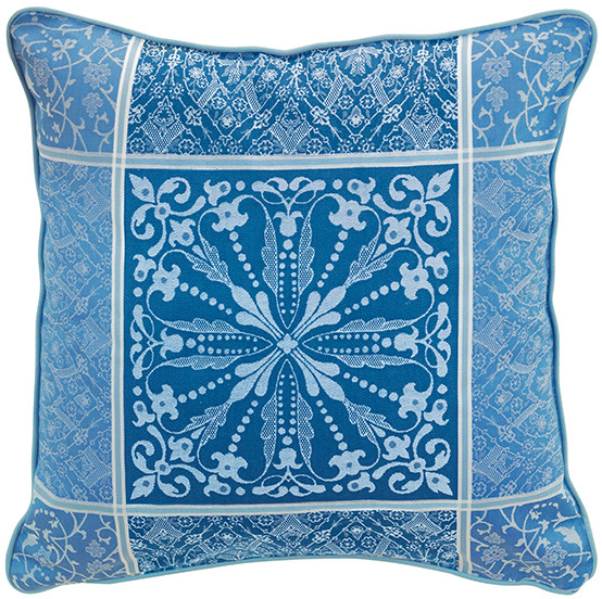 Cassandre Cushion Cover in Saphir