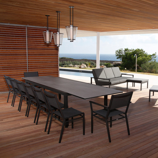 Equinox Painted Extending Dining Table in Graphite