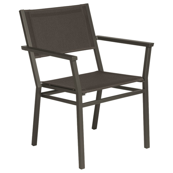 Equinox Painted Dining Armchair in Graphite