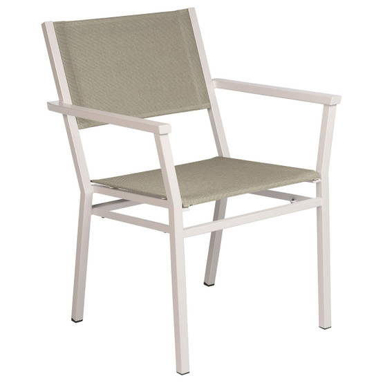 Equinox Painted Dining Armchair in White