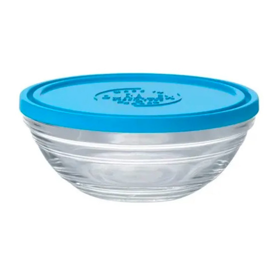 Lys Round Bowl with Lid 0.5 Qt
