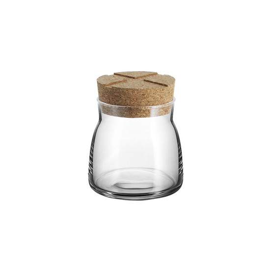 Small Bruk Jar with Cork in Clear
