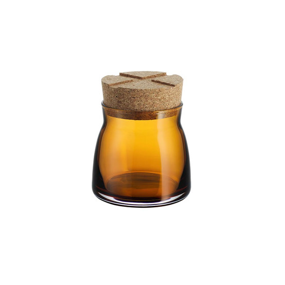 Small Bruk Jar with Cork in Amber