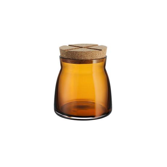 Medium Bruk Jar with Cork in Amber