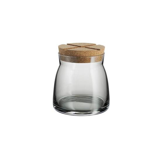 Medium Bruk Jar with Cork in Grey