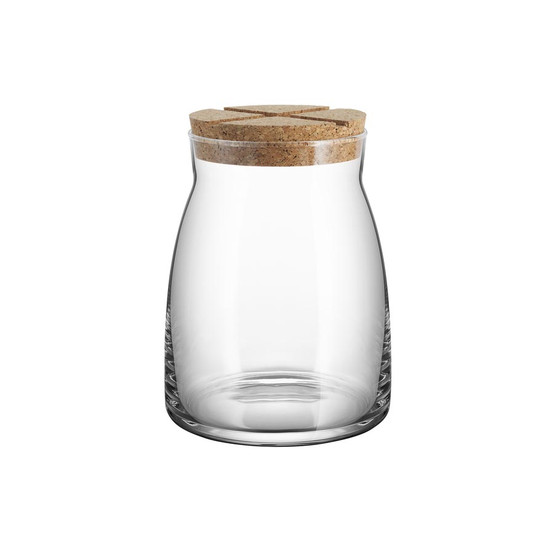 Large Bruk Jar with Cork in Clear