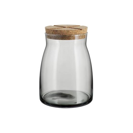Large Bruk Jar with Cork in Grey
