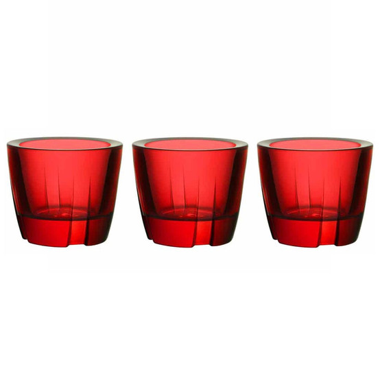 Bruk Votive/Anything Bowl in Deep red, Set of 3