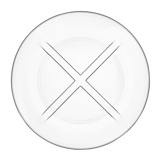 Bruk Salad Plate in Clear