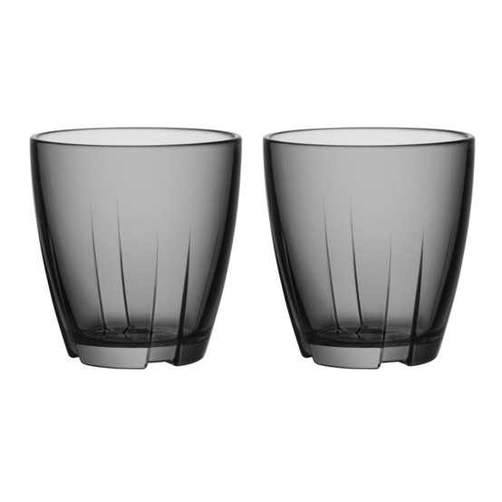 Small Bruk Tumbler in Grey, Set of 2