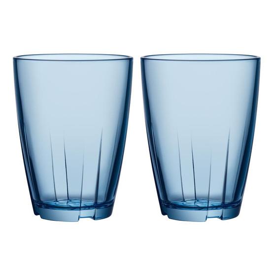 Large Bruk Tumbler in Blue, Set of 2