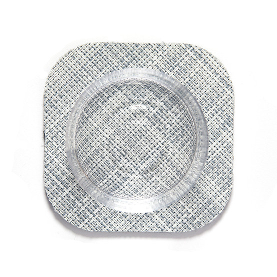 Square Mini Basketweave Coasters 4 Pack in Mist