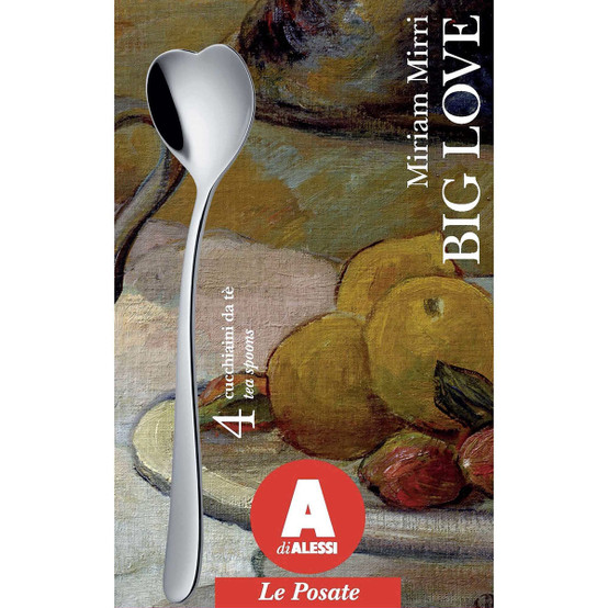 Big Love Tea Spoons in Silver, Set of 4