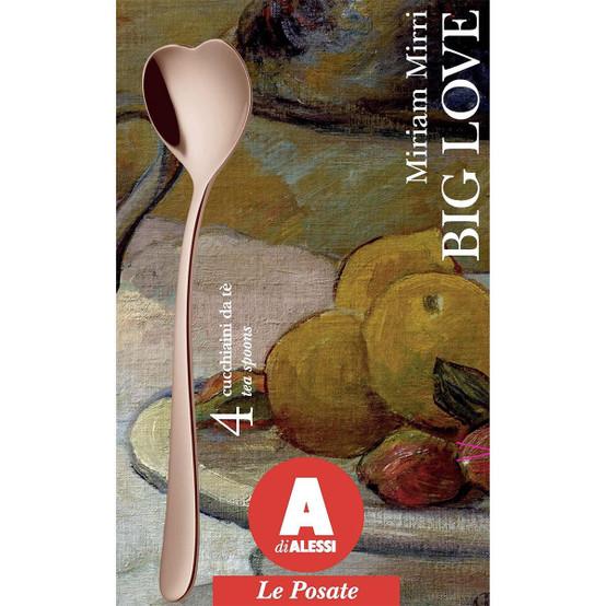 Heart-Shaped Tea Spoons in Golden Pink 4pcs Set