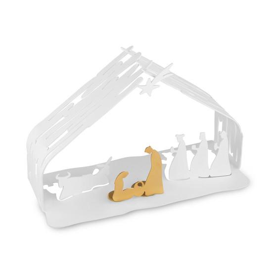Bark Crib in White
