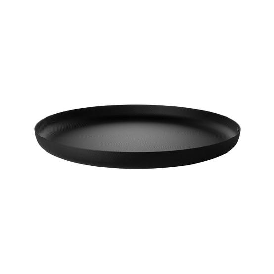 Round Textured Tray in Black