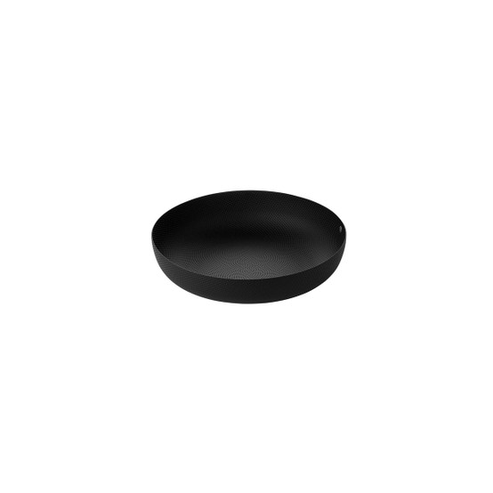 Small Round Textured Basket in Black