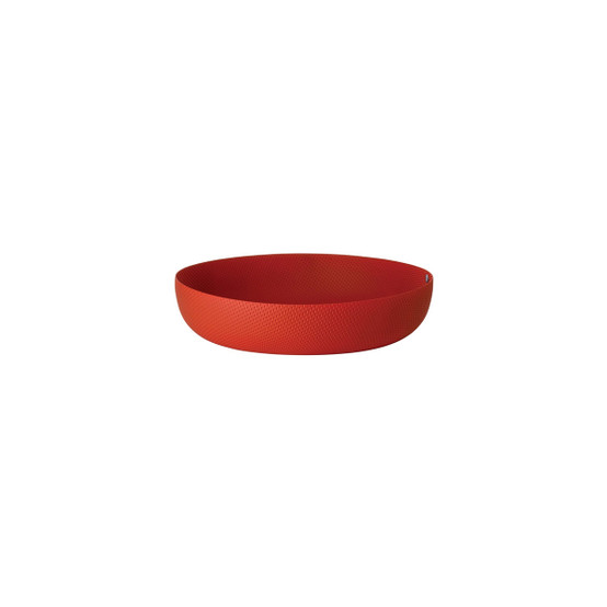 """8.25"""" Round Textured Basket in Red"""