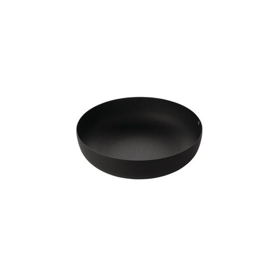 """9.5"""" Round Textured Basket in Black"""