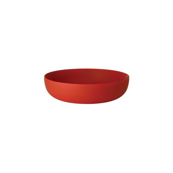 """9.5"""" Round Textured Basket in Red"""