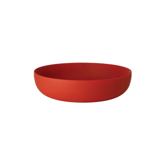 Large Round Textured Basket in Red