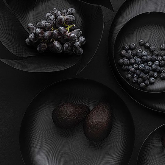 Twist Again Fruit Basket in Black