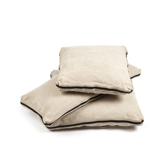 James Pillow Cover in Flax 15.5 x 31.5