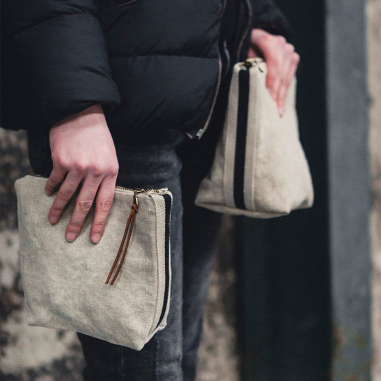 James Pouch in Flax