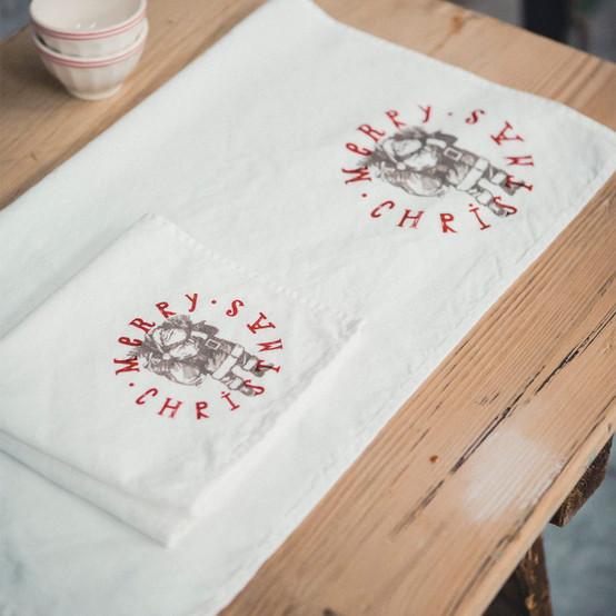 Prints Father Christmas Tea Towel