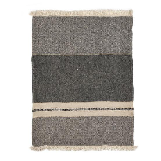 The Belgian Towel Small Fouta in Tack Stripe