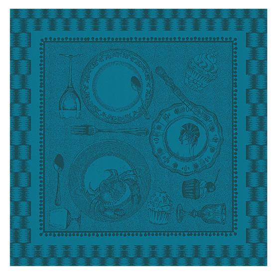 Entre Amis Napkin in Bleu Canard