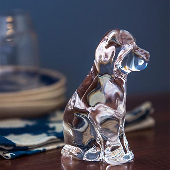 Glass Dog in Gift Box