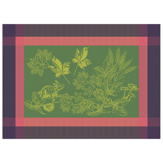 Plaisirs D'Automne Green Sweet Coated Placemat in Muscat