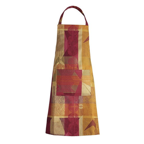 Mille Tingari Coated Apron in Terre Rouge